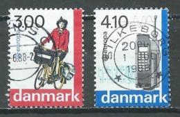 Danemark YT N°924/925 Europa 1988 Transport Et Communication Oblitéré ° - Europa-CEPT