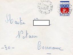 LSC 1966 - Cachet Hexagonal Perlé - SAINT PONS LA CALM (Gard) Sur YT 1354B - Storia Postale