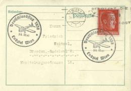DR Mi-Nr 664  /AH-Geburtstag,   Luftpost-Beleg Als Postkarte Mit SST Deutschlandflug - Germania