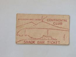 Germany 1947 (?) - American Red Cross - Continental Club - Snack Bar Ticket - Toegangskaarten