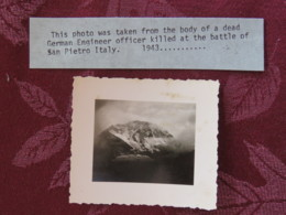 1945 - Photograph Taken From The Body Of A Dead German Officier Killed In Battle Of San Pietro Italy - War, Military