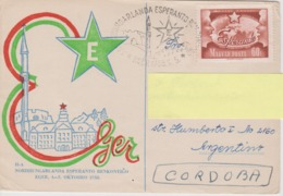 AKEO Card About 2nd Hungarian Esperanto Meeting In Eger 1958 - Hungarlanda Esperanto Renkontigxo With Mi 1488 - Esperanto