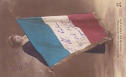 Lot De 3 Cartes Avec Drapeau - Patriotic
