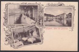 CPA  Suisse, LUZERN, Hotel Des Balances - LU Lucerne