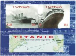 Tonga 2012 _ Imperforated _ TITANIC - 100th Anniversary Of Disaster _ MNH ** - Tonga (1970-...)
