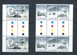 Australian Antarctic Territory 2013 Expedition Anniversary III Disaster & Isolation Strips X2 As Gutter Blocks MNH - FDC