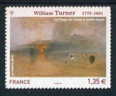 "TIMBRE** De 2010 Autoadhésif ""1,35 € - WILLIAM TURNER La Plage De Calais à Marée Basse"" - Autoadesivi"