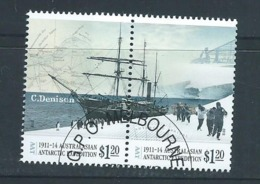 Australian Antarctic Territory 2013 Expedition Anniversary II Arrival & Exploration $1.20 Boat Pair VFU - FDC