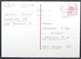 Germany -  Stamped Stationery Card 1985 Film Festival On Cancel Manheim - Cinéma