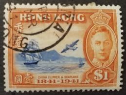 S226.-. HONG KONG - 1941 - SC#: 173 - USED - CHINA CLIPPER AND SEAPLANER - Hong Kong (...-1997)