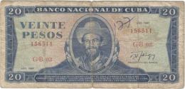 Cuba 20 Pesos 1987 Pk 105 D.1 Ref 3029-2 - Cuba