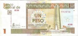 Cuba 1 Peso 2007 Pk-fx 46 2 Ref 3034-2 - Cuba
