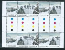 Australian Antarctic Territory 2012 Expedition Anniversary II 60c Arrival & Exploration Gutter Block Of 10 MNH - Territorio Antartico Australiano (AAT)