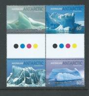 Australian Antarctic Territory 2011 Iceburgs Gutter Block Of 4 MNH - Unused Stamps