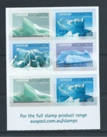 Australian Antarctic Territory 2011 Iceburgs Peel & Stick Pane Of 6 MNH - Unused Stamps