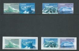 Australian Antarctic Territory 2011 Iceburgs Set Of 2 Pairs MNH + Peel & Stick Set Of 2 Pairs MNH - Unused Stamps