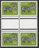 Ireland Scott # 469 MNH Gutter Block Of 4 Stag, 1980 - Blocks & Sheetlets