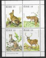 Ireland Scott # 480-3 MNH Animals, Miniture Sheet, 1980 - Blocks & Sheetlets