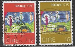 Ireland Scott # 489-90 Used Christmas, 1980 - Used Stamps