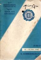 1928 EXTREMELY RARE Auction Catalogue E.LUDER - EDELMAN Of ZURICH: XI VENTE AUX ENCHERES (15-24 November 1928) - A Very - Cataloghi