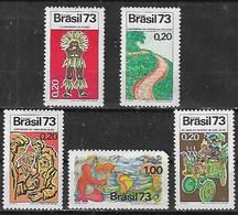 1973 Brasil Eventos Historicos - American Indians