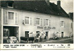 71120 CHAROLLES - Dépliant En 3 Volets Format CPM - L'Hôtel Du Lion D'Or - Charolles