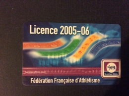 FEDERATION FRANÇAISE D'ATHLETISME  FFA  Licence 2005-06 - Athletics