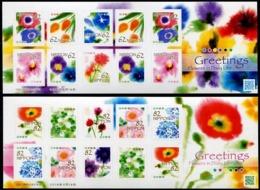 Japan 2019 Greetings—Flowers In Daily Life Stamps Sheetlets*2 MNH - Ongebruikt
