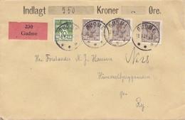 Dänemark: 1922: Wertbrief Von Gudme Nach Ry - Dänemark