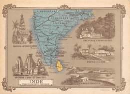 CHROMO - DUROYON & RAMETTE ( CHICOREE - CAMBRAI )   INDE - ETABLISSEMENTS FRANCAIS   FORMAT: 17,8cm Sur12,8cm - Duroyon & Ramette