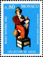 Monaco Poste N** Yv:1380 Mi 1611 Yv:0,65 Euro Paysan Et Son Cochon - Monaco