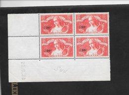 Bloc De 4 Coin Daté Art Et Pensée Surchargé Y Et T 329 Du 20/06/1936 Neuf - 1930-1939