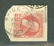 Belgique   74  Ob  Sur Fragment De CP   Ob  Adinkerke - 1905 Breiter Bart
