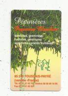 Carte De Visite,pépinières PAQUEREAU BLANCHIER ,85 ,FOUSSAIS-PAYRE , 2 Scans - Visiting Cards