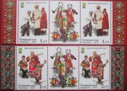 Tajikistan  2012    Costumes  4 V + Label   Perforated   MNH - Tajikistan
