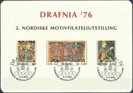 NORWEGEN 1976 Sonderdruck / Souvenir Bloc Drafnia 1976 - Blocks & Sheetlets