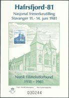 NORWEGEN 1981 Sonderdruck / Souvenir Bloc Hafrsfjord 1981 - Blocks & Sheetlets
