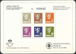 NORWEGEN 1983 Sonderdruck / Souvenir Bloc Filos 1983 - Blocs-feuillets