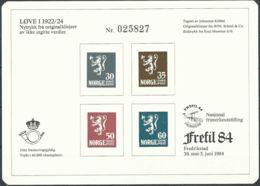NORWEGEN 1984 Sonderdruck / Souvenir Bloc Frefil 1984 - Blocks & Sheetlets