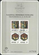NORWEGEN 1987 Sonderdruck / Souvenir Bloc Nidaro 1987 - Blocks & Sheetlets