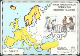 NORWEGEN 1989 Sonderdruck / Souvenir Bloc Nordia 1989 - Blocs-feuillets
