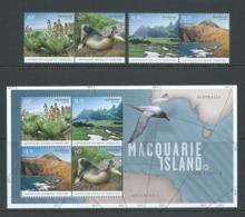 Australian Antarctic Territory 2010 Macquarie Island Set Of 4 & Miniature Sheet MNH - Unused Stamps
