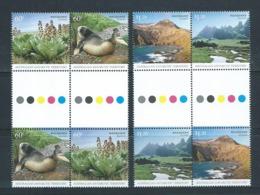 Australian Antarctic Territory 2010 Macquarie Island Set Of 4 X 2 As Se Tenant Gutter Blocks Of 4  MNH - Unused Stamps