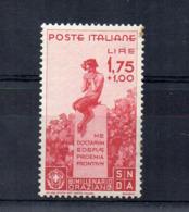 Italia - Regno - 1936 - Bimillenario Della Nascita Di Orazio - 1,75 + 1 Lira - Nuovo - Linguellato * - (FDC17078) - Nuevos