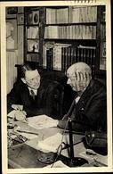 Cp Schriftsteller Georges Duhamel, Maler Berthold Mahn - Personnages Historiques