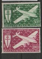 GUYANE       N° YVERT   PA 26/27   NEUF SANS CHARNIERES     ( NSCH 1/04 ) - Unused Stamps