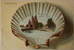 Haarlem // Relief Schelp Kaart // Amsterdamsche Poort Ca 1900 - Haarlem