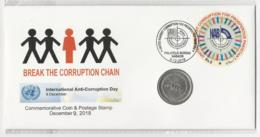 Pakistan Cover With Coin And Stamp NAB - Pakistan