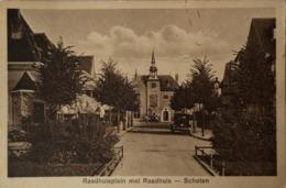 Schoten (Haarlem - Noord) Raadhuisplein Met Raadhuis 1930 - Haarlem