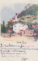 "CARTOLINA SARGANS -   St-Gall - SVIZZERA - ILLUSTRATORE J.REDMOND - AL RETRO PUBBLICITA' ""CHOCOLAT LINDT"" - SG St. Gall"